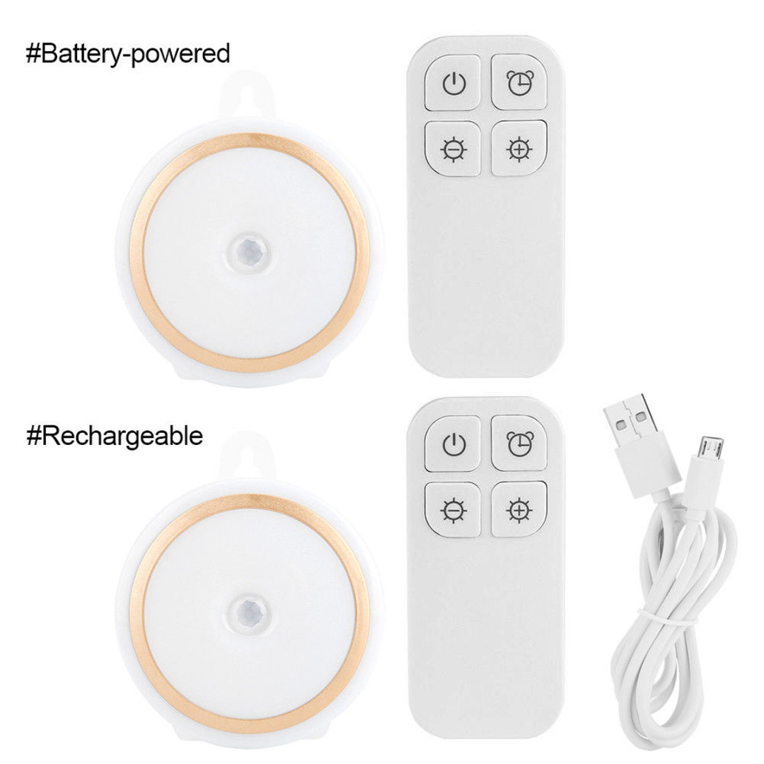Wireless 5 LED Night Light Lamp for Cabinet Hallway Closet Rechargeable/Battery-powered Remote Control Cabinet Light MAYITR wireless remote control led under cabinet lights battery powered led night light rf remote dimmable timer functions magnets