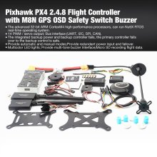 Pixhawk PX4 PIX Autopilot 2.4.8 100MW Drone Flight Controller with Telemetry M8N GPS Mini OSD PM Safety Switch Buzzer PPM I2C 3dr pixhawk airspeed sensor kit for px4 autopilot flight controller