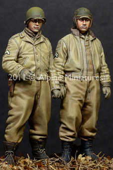1:35 WW2 UNS AFV <font><b>Crew</b></font> Set (2 Figuren) image