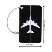 Thinkthendo алюминия багаж путешествия Чемодан тег чемодан личность адрес Имя этикетки Новый