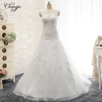 Vestidos de Noche 2017 nueva llegada sirena Vestidos de boda Scoop sin...