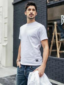 SIMWOOD Summer T-Shirt Men 100% Cotton t shirt Male Tee