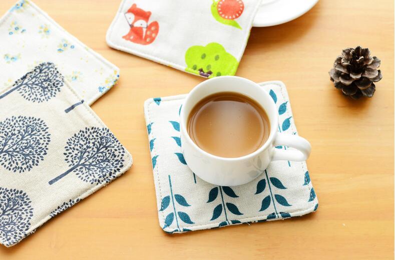 4pcs/lot Linen Cotton Coaster Placemat Dining Table Mat Cup Coaster Place Mat Eco-friendly Heat Resistant Pad Table Decoration
