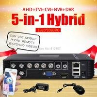 CCTV Security 8CH DVR AHD 720P 1080N 3 IN 1 Hybrid HVR NVR HDMI Digital Video