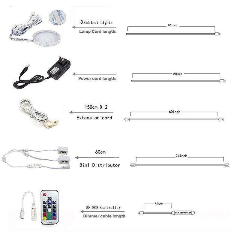 under cabinet led lighting RGB 8 lights kit 02