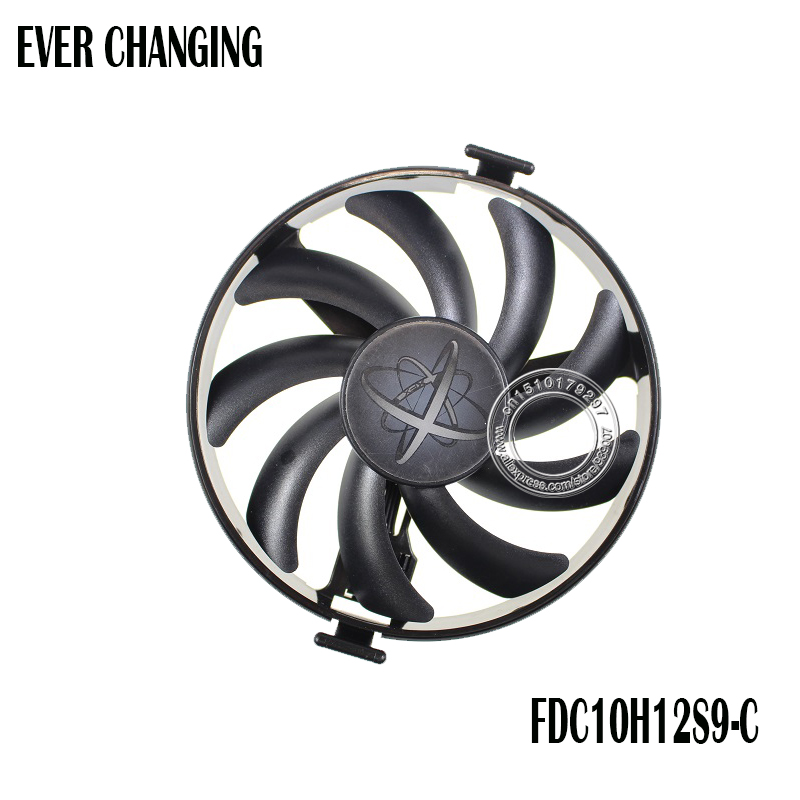 PARA XFX Duro Swap Fãs GPU VGA Cooler Ventilador de Refrigeração FDC10H12S9-C Para XFX RX480 RX470 RX580 Placas De Vídeo Como a Substituição