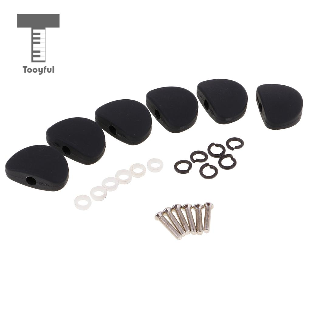 Tooyful 6Pcs Guitar Tuning Pegs Key Tuners Machine Heads Replacement Buttons Knobs Handle