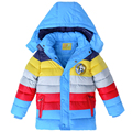 Winter Children Jacket Boys Girls warm Down Coat Kids Outerwear Coats Stripe Clothing For Baby Boys Fashion warm Kinds clothes