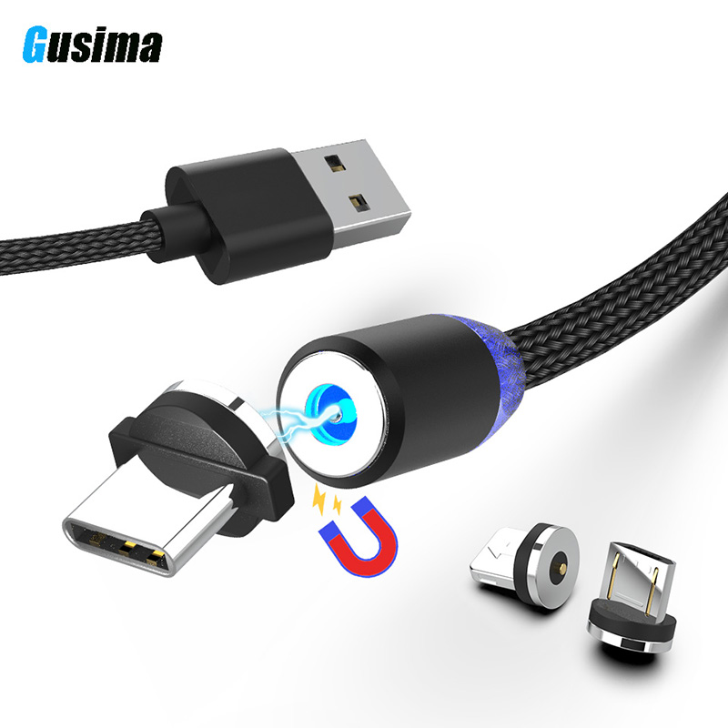 1 M 2 M Micro Usb Magnetic Kabel Usb Type C Koord Voor Iphone Magneet Kabel Connector Mobiele Usb Lader Kabel Chargeur Cabel 2a 2.4a Verschillende Stijlen