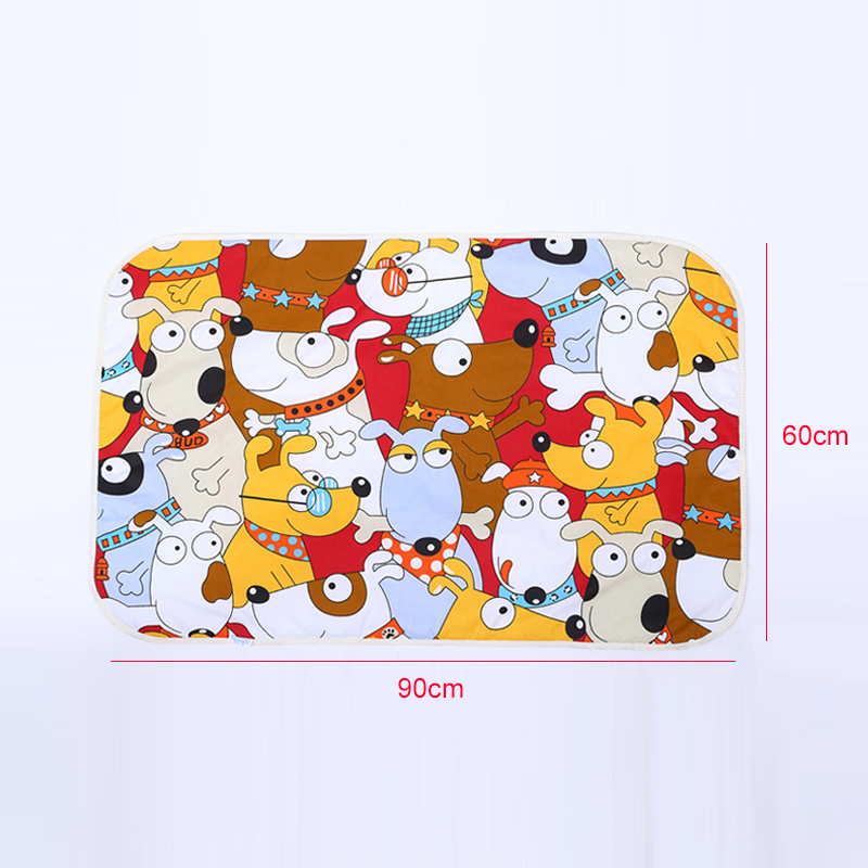 60 90cm Baby Changing Mat Cartoon Cotton Waterproof Sheet Baby Changing Pad Table Diapers Urinal Game