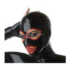 New Arrival Hot Sexy Lingerie Adult Hot handmadeLatex Hoods Open Mask spliced color XS-XXLFree Shipping