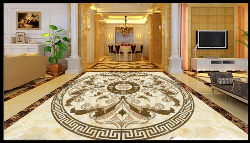 Custom washroom 3d floor waterjet medallion vinyl floor 3d stereoscopic wallpaper waterproof self adhesive plastic flooring roll 3d floor abstract spiral staircase wallpaper custom laminate flooring waterproof self adhesive waterproof 3d floor vinyl