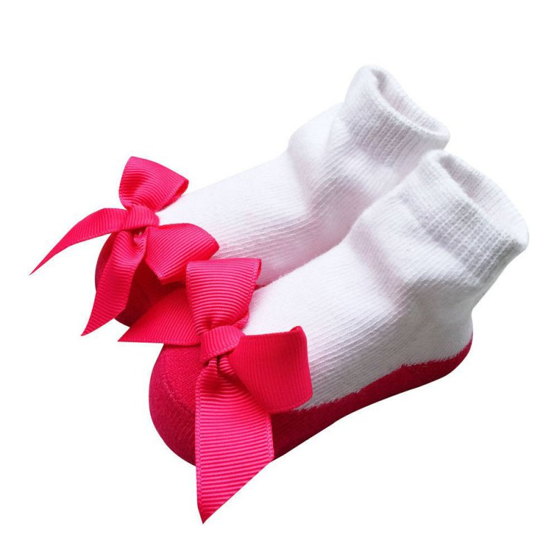 Baby Infant Socks Newborns Girls Princess Bow Knot Socks Holiday Birthday Gifts