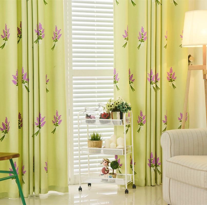 Korean Small Fresh Lavender Shading Curtain Curtain