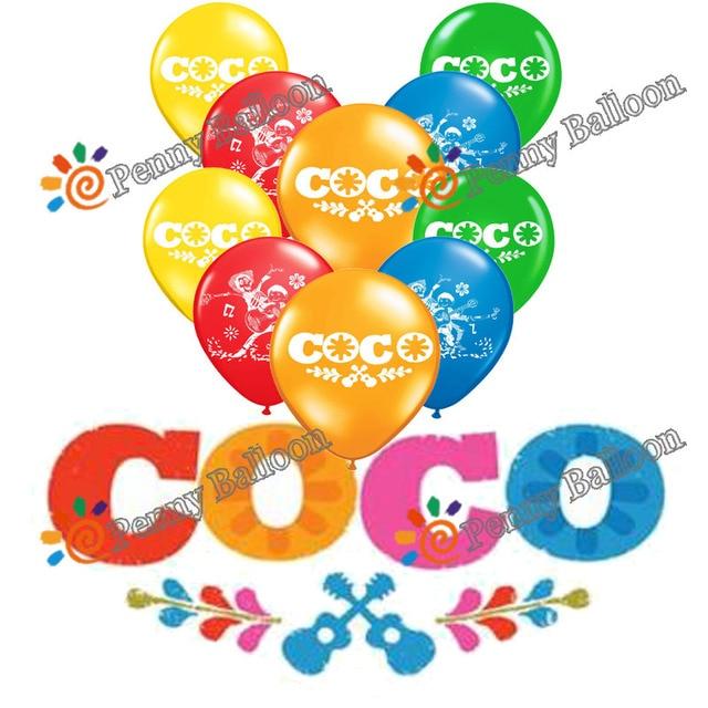 Wholesale 10pcs/lot Coco Latex Balloon Happy Birthday Decorations Globos Toys For Kids Celebration Supplies Ballon