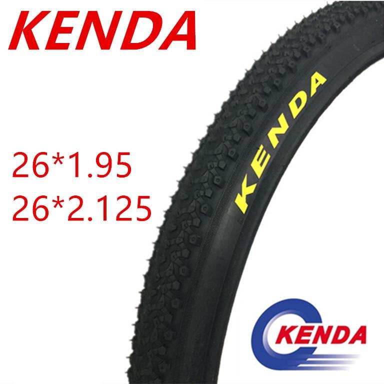 KENDA Pneu 26 polegada 1.95 2.125 MTB Mountain Bike Estrada Bicicleta Tubo Interno de Pneus 26 polegada 1.95/2.125 Ciclismo tubo de borracha de Pneus Largos