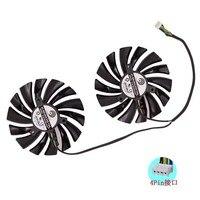 2pcs Set For MSI GTX1080Ti 1080 1070Ti 1070 1060 RX580 570 ARMOR VGA COOLER Fan