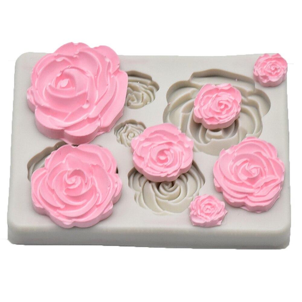 1 piece cake baking rose silicone cutting mold fondant mold cake decoration tool kitchen tool new 2019