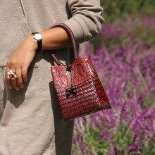 Винтажные национальные женские сумки бусины в стиле ретро из ротанга, соломенные сумки с принтом слона, дизайнерские ведро, женские летние пляжные мини-сумки