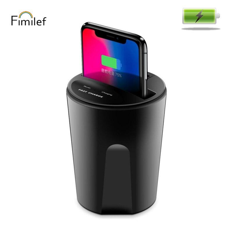Fimilef 2018 nouveau chargeur sans fil de voiture rapide 10 W/7.5 W/5 W charge sans fil pour Samsung voiture sans fil charge support pour téléphone