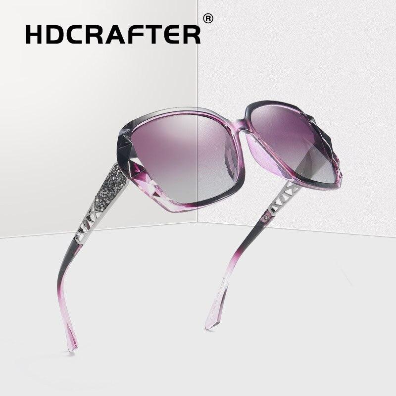 Luxury Polarized Sunglasses Women Ladies Oversized Brand Designer Square Gradient Sun Glasses Female Vintage Sunglasses Eyewear