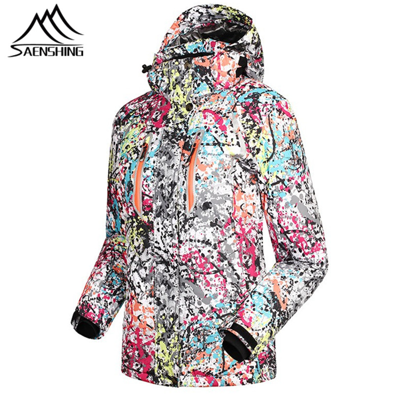SAENSHING Ski Jacket Women Winter Waterproof Breathable Snowboard Snow Jacket Female Outdoor Coat Skiing Snowboarding Jackets dropshipping 2015 rossignol winter snowboarding jacket ski snow jacket women waterproof breathable windproof skiing jackets