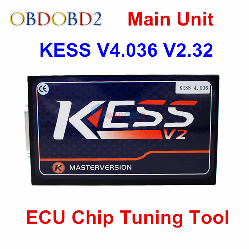 Prix pour Unité principale KESS V2 V2.32 Date OBD2 Gestionnaire Tuning Kit Non Jetons Limitée KESS V2 Maître FW V4.036 Maître Version