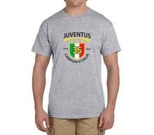 2016 2017 championi d'italia 35 T Shirt Men Short Sleeve  100% cotton champion T-shirts  juventus fans gift 0301-1