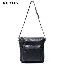 MR.YLLS Brand Classic Men Genuine Leather Messenger Bag Famous Male Work High Quality Shoulder Bag Men Business Crossbody Bags