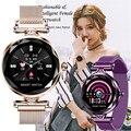 Женские модные роскошные умные часы подарок для женщин Bluetooth шагомер пульсометр Смарт-часы для Android/IOS смарт-браслет