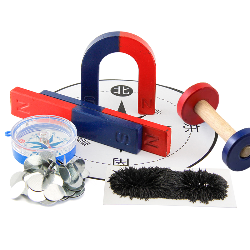 1set  Magnet Kit for Education Science Experiment Tools Icluding Bar/Ring/Horseshoe/Compass Magnets1set  Magnet Kit for Education Science Experiment Tools Icluding Bar/Ring/Horseshoe/Compass Magnets