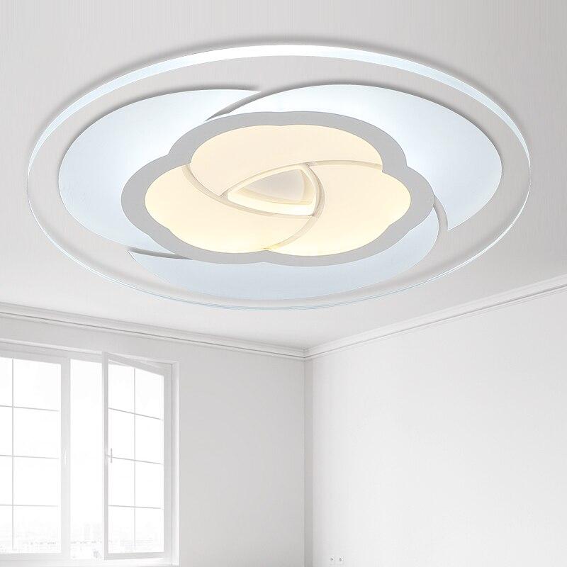 Moderní ultratenký kulatý průhledný akrylový LED růžový tvar chladného bílého stropního světla pro osvětlení obývacího pokoje