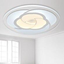 Moderno ultrafino redondo acrílico transparente LED Rosa forma Cool blanco luz de techo remoto para el accesorio iluminación la sala estar