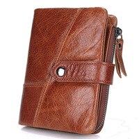 New Top Quality Genuine Leather Men Wallet Brand Zipper Men S Wallets Luxury Dollar Vintage Cow