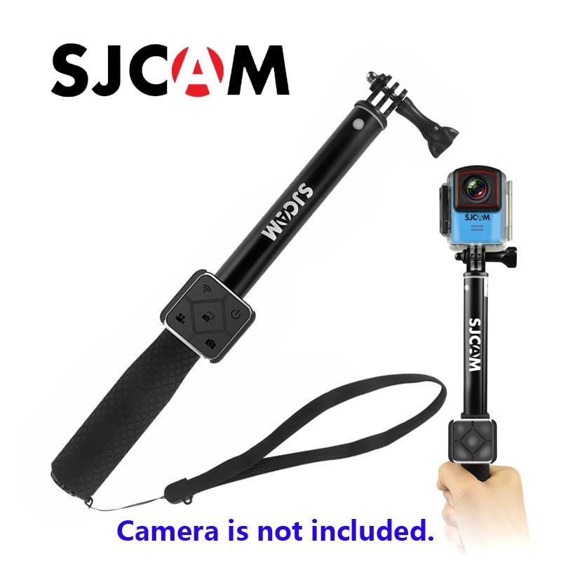 Original SJCAM aluminio autofoto palo y Control remoto para SJCM SJ6 leyenda M20 SJ7 estrella SJ8 serie WiFi Cámara de Acción cámara del deporte Cámara de