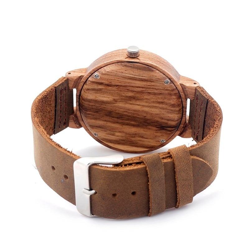BOBOB BIRD Watch Men Luxury Brand Leather Strap Quartz Wood Watches Wooden Wristwatch Relogios Masculino C-C16