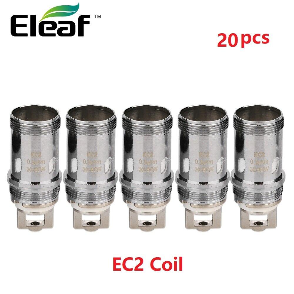 20pcs lot Eleaf EC2 Coil Head 0 3ohm 0 5ohm Head Replacement Coil for Eleaf Melo