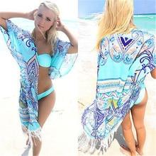 2016 Hot Printing Women Sexy Lace Tassel Cover Up Crochet Swimsuit Swimwear Wear Beach Cover ups