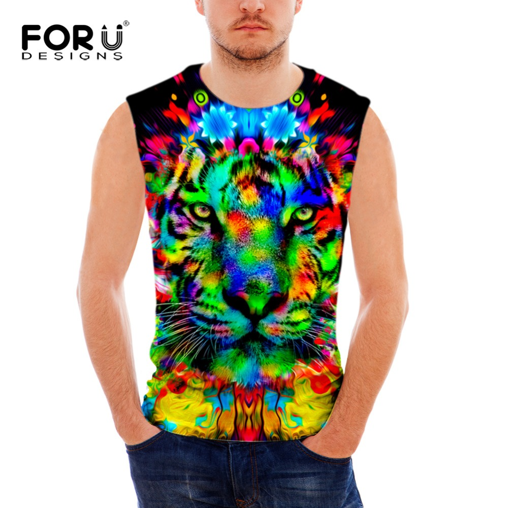 Trend clothing store-shirt Men Hipster Funny Cool Vest Letter Printed Male Fashion O-Neck Casual Singlets Black