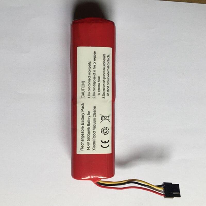 Qualité supérieure 14.8 V 5600 mAh Rechargeable Li Ion Batterie Pour Xiaomi robot de balayage aspirateur Pierre batterie au lithium