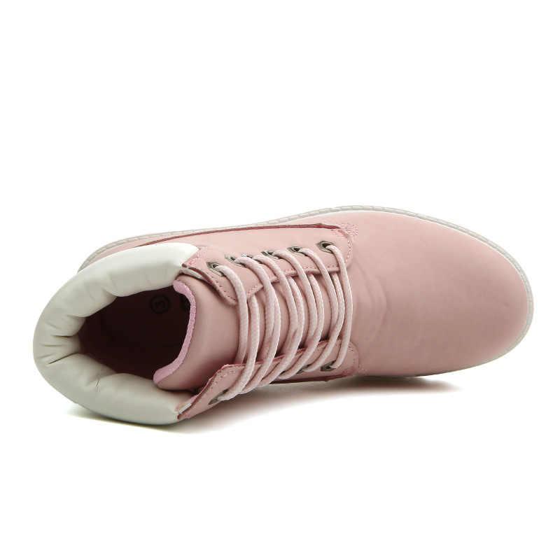 2019 Sıcak Yeni Sonbahar Erken Kış Ayakkabı Kadınlar Düz Topuk Botlar Moda sıcak Tutmak kadın Çizmeler Marka Kadın Ayak Bileği botas Kamuflaj