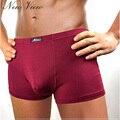 2017 Новый мужской Underwear Боксеры Бамбуковое Волокно Сплошной Цвет Брюки Дышащий Антибактериальные Para Hombres Pantalones