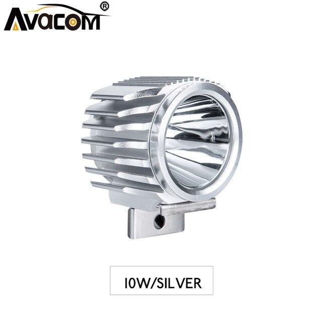 Avacom LED Motorcycle Headlight External Spotlight Assembly 12V 6500K White 10W 1500Lm Super Bright LED Lamp For Moto Scooter