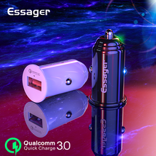 Essager USB Car Charger Quick Charge 3.0 Mobile Charger Car For Samsung Xiaomi Huawei QC 3.0 Fast Charging Car Phone Charger