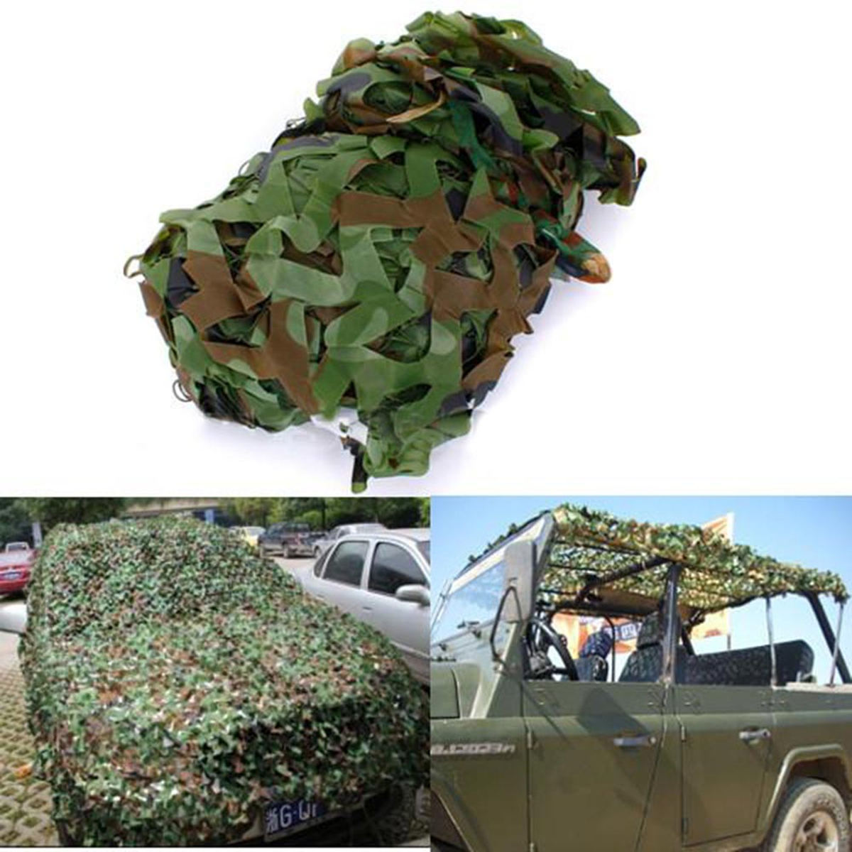 Woodlands Campsite At The Formula 1: 7X1.5m Woodland Camouflage Camo Net Camping Military