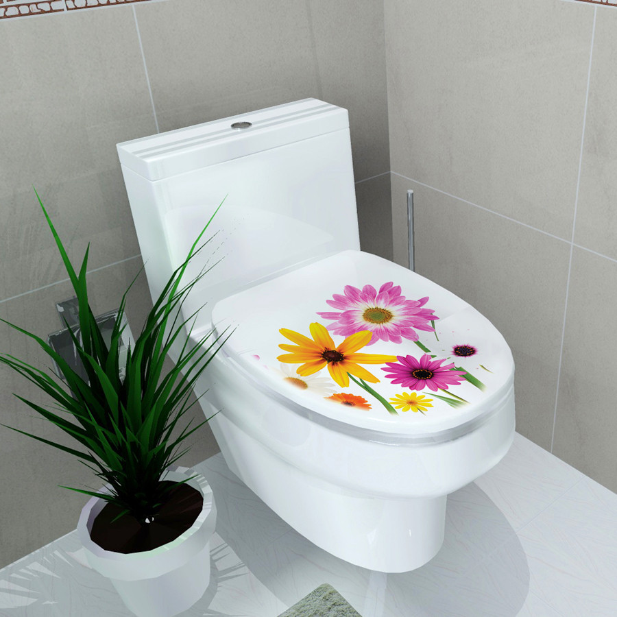 Mixed 21 Designs Toilet Stickers Bathroom Waterproof Painting Wall ...