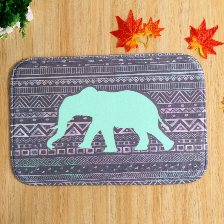HUAMAO 40*60cm India Elephant Mat Suede Non Slip Absorbent Shower Bathroom  Mat For Toilet Rugs Kitchen Floor Mat In Carpet From Home U0026 Garden On ...