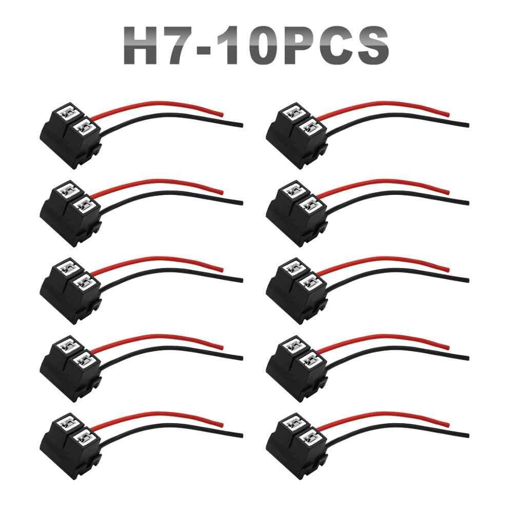 JGAUT 10 керамическая подставка для палочек H1 H7 H13 H8 H9 H11 9007 проводной коннектор адаптер для галогенок цоколем HID Xenon Мощность кабель