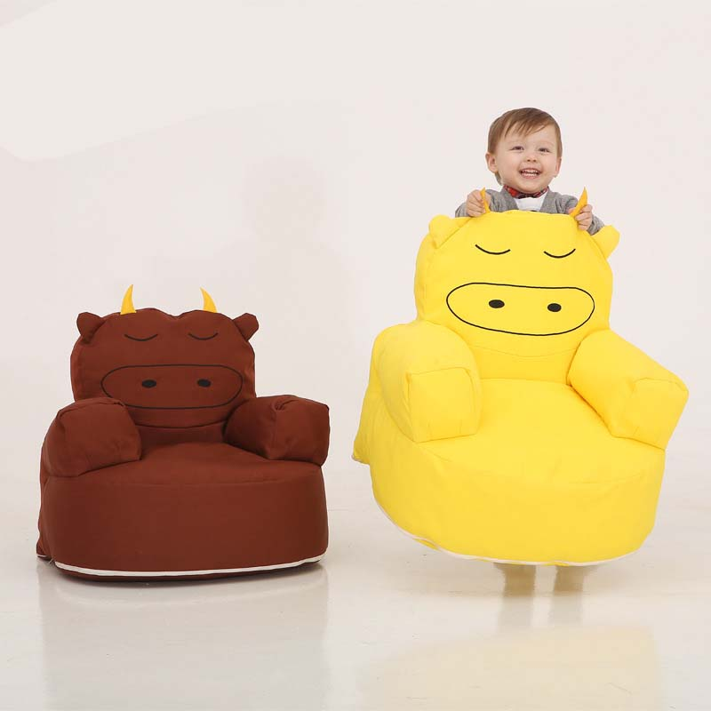 Calf Cartoon Bean Bag lazy sofa Children Comfortable Living room leisure sofa Kindergarten baby tatami chair цена 2017