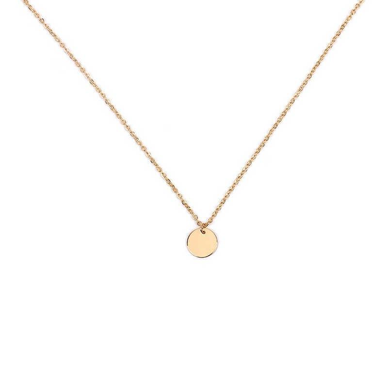 Poputton Màu Vàng Sequin Dài Coin Pendant Dây Chuyền cho Phụ Nữ Đơn Giản Đĩa Nữ Chuỗi Vòng Dài Necklace Collier Femme 2018